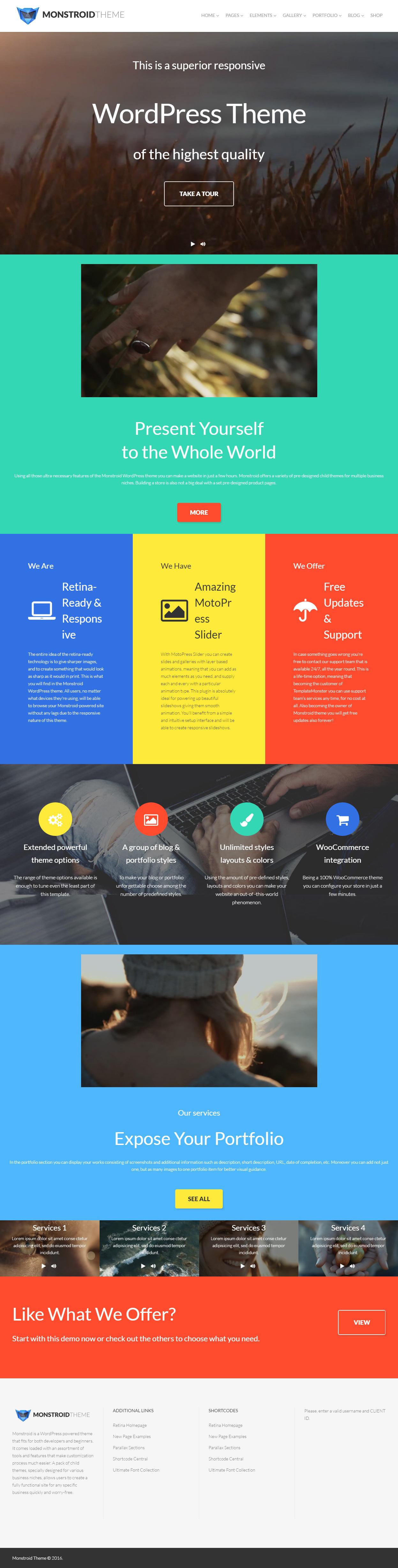 ... Best Responsive Full Screen Video Background WordPress Themes 2017 7